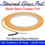 """12581-Stained Glass Foil Black Back 7/32"""" 1.25 Mil"""