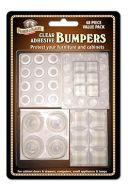 12793- 48 Clear Adhesive Bumpers Assorted Sizes
