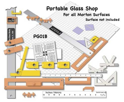 13190CS-Case Morton Portable Glass Shop #PG01B 8/CS