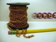 17801-Deco.Chain Solid Copper 25' per Unit