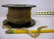 17810-Ladder Chain Brass Plated 25' per Unit ---Sale!