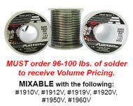1910V-Volume Case 25#s Amerway 50/50 Solder 1lb.Spools