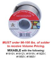 1919V-Volume Case 24#s AIM Artist Pure 50/50 Solder 1lb.Spools