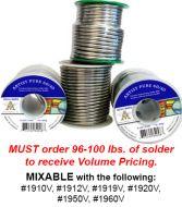 1920V-Volume Case 24#s AIM Artist Pure 60/40 Solder 1lb.Spools