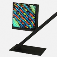 """25801-6"""" Clarity Art Glass Display Stand"""