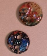 47237-Rd.Holey 4 Buttons Mold ---SALE!