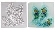 47326-Peacock Texture Tile Mold ---SALE!