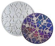 47329-Snowflake Round Texture Mold ---------------------------- SALE!
