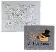 47330-Let it Snow Texture Tile Mold ---SALE!