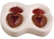 "47513-Flaming Hearts Mold 8""x 6""x 1.25"""
