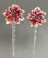 47260-Poinsettia Ornament/Stake Icicle Mold