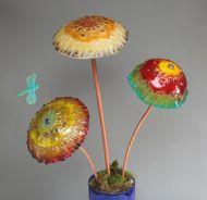 "47359-Frit Casted Mushroom Cap Mold 8"" Dia"