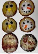 47382-Log Slice Ornaments Mold 4.75