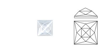 62414-Value 18MM x 18MM Clear Square (20 Facets)