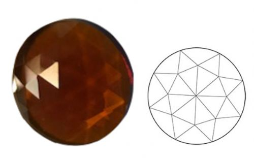62342-20MM Md. Amber Round 30 Facets