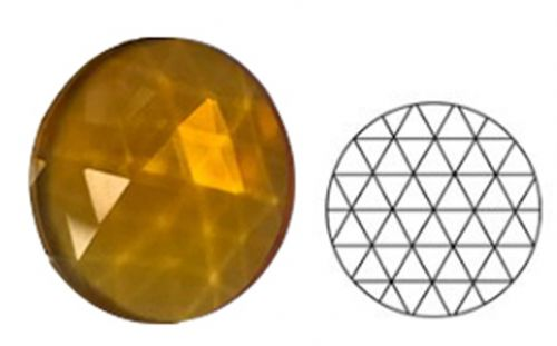 62344-25MM Lt. Amber Round 54 Facets