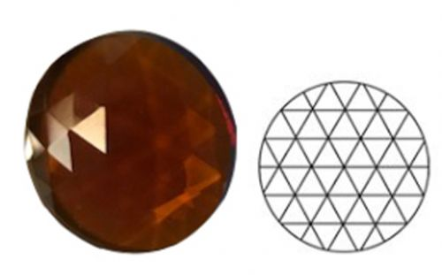 62348-30MM Dk. Amber Round 54 Facets
