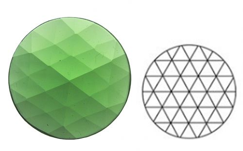 62362-30MM Lt. Green Round 54 Facets