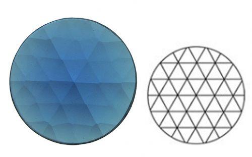 62374-25MM Med. Blue Round 54 Facets