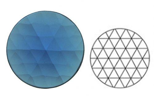 62377-30MM Med. Blue Round 54 Facets
