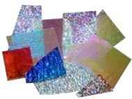 74582-1/2# Dichro. Crinklized Scrap 90 CBS Random Sized Pieces