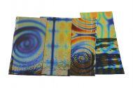 74551-1/4# Dichro. Tie Dye Scrap Thin Black 96 Austin