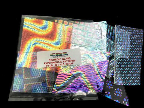 74578-1/2# Dichro. Clear Experimental Scrap 96 CBS SALE!