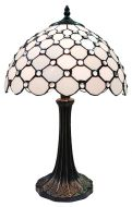 83121-Stone Pattern Tiffany Stained Glass Shade & Lamp Base