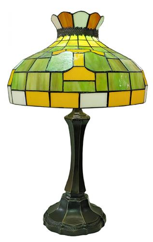 83145-Tennessee Volunteers Tiffany Stained Glass Shade & Lamp Base