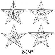 5 x 6-3//4 Exquisite Cluster 3-D Star