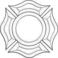 EC235-Exquisite Cluster Fireman Badge