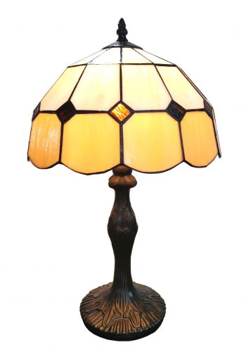 83114-Honey Tiffany Stained Glass Shade & Lamp Base