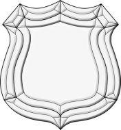 EC236- Exquisite Cluster Police Badge