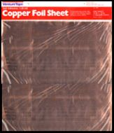 "12560-Venture Adhesive Copper Foil Sheet 1.25 Mil 12""x12"" 1/Pk"