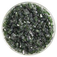 BU114193F-Frit Coarse Olive Green Trans. 1# Jar