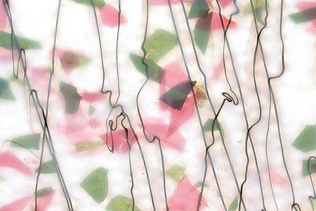 BU4014F-SPRING: Green & Deep Pink On White