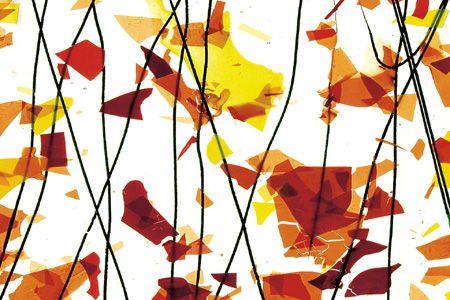 BU4111F-AUTUMN: Orange/Yellow & Red On Clear