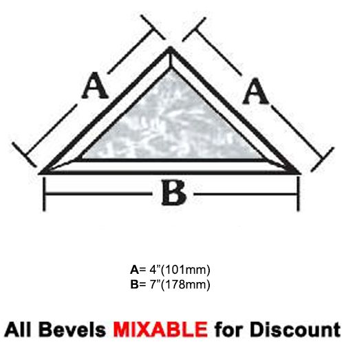 "BVT47G-Glue Chip Tri.Bevel 4""x4""x7"" SALE!"