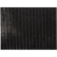 "BU010047FH-Black Prismatic Bolder Linear Texture Opal 10""x11.5"""