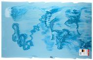 BU90422AF-Powder Blue/Steel Blue/White Graffiti
