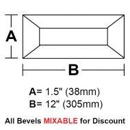 "BV1512-Rec.Bevel 1.5""x12"""