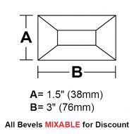 "BV153CS-Case 720ea. Rec.Bevel 1.5""x3"""