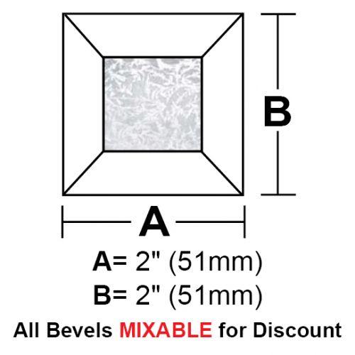 """BV22GCS-Case 720ea. Glue Chip Square Bevel 2"""""""