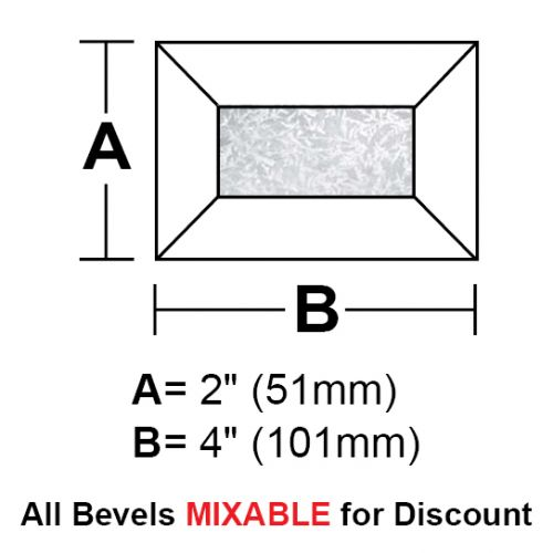 "BV24GCS-Case 360ea. Glue Chip Rec.Bevel 2""x4"""