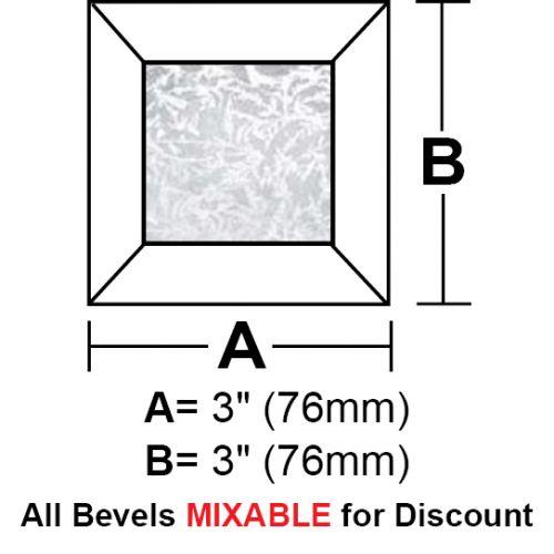 """BV33G-Glue Chip Square Bevel 3"""""""