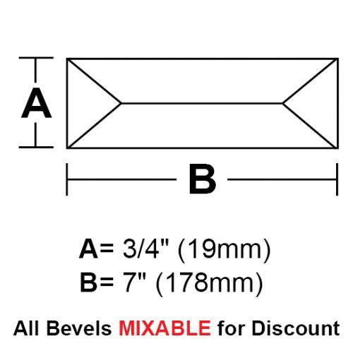 """BV347-Rec.Peaked Bevel 3/4""""x7"""" SALE!"""