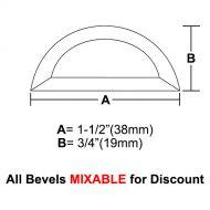 "BVHR15-Half Circle Bevel 1.5""x3/4"""