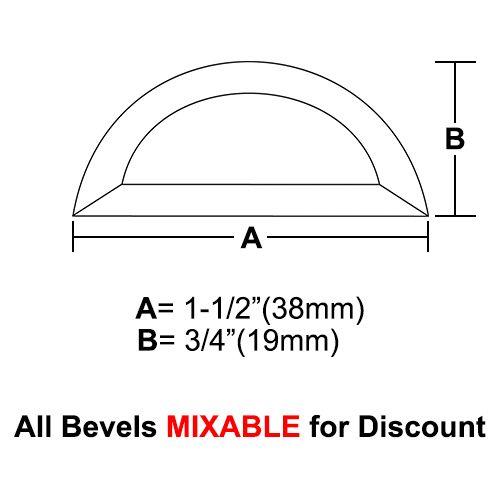 "BVHR15-Half Circle Bevel 1.5""x3/4"" SALE!"