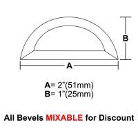 "BVHR2-Half Circle Bevel 2""x1"""