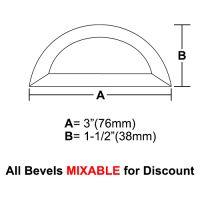 "BVHR3-Half Circle Bevel 3""x1.5"""